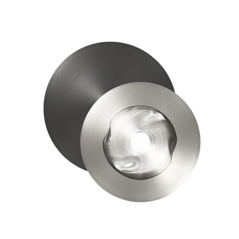 Applique Dots F 1 lumière nickel et graphite