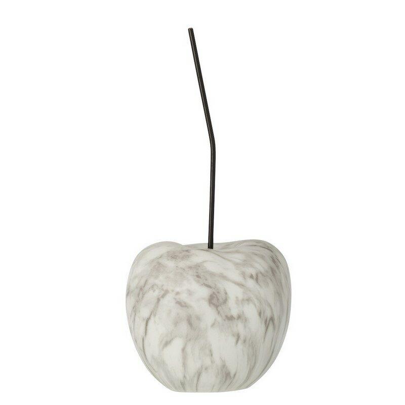 Cerise marbre blanche et grise grand modèle