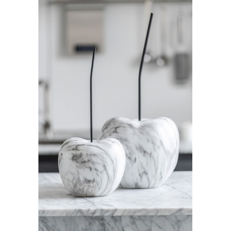 Cerise marbre blanche et grise petit modèle
