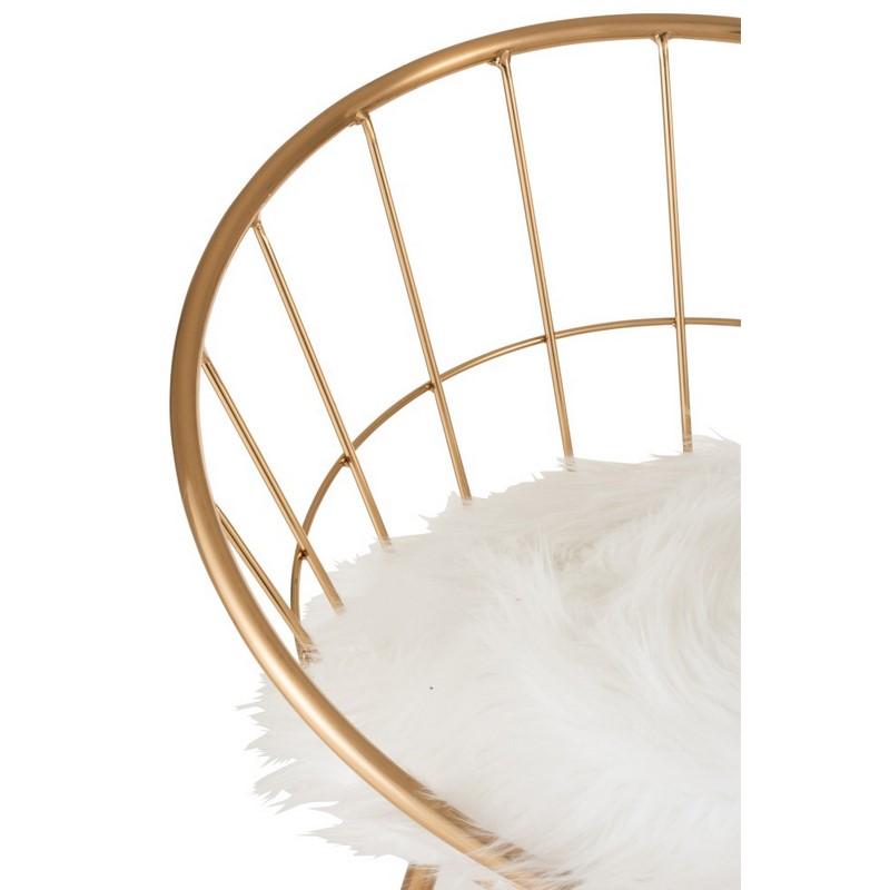 Chaise de bar ronde or