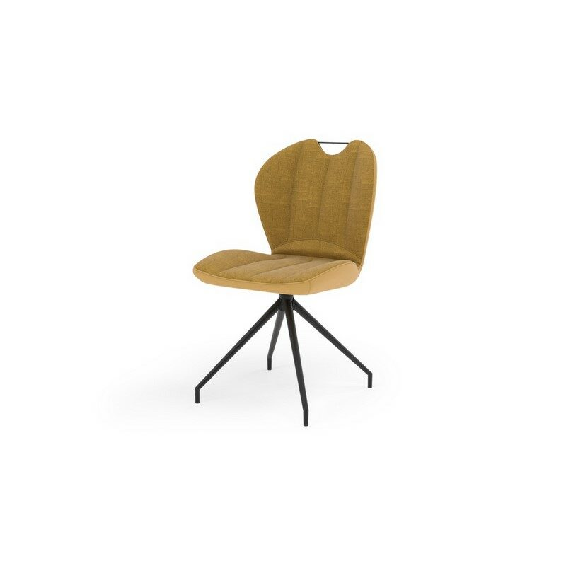 Chaise pivotante New York jaune ocre