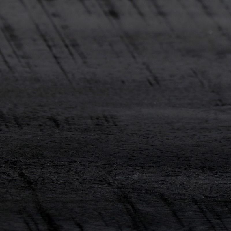 Console en bois et métal noir Ohio