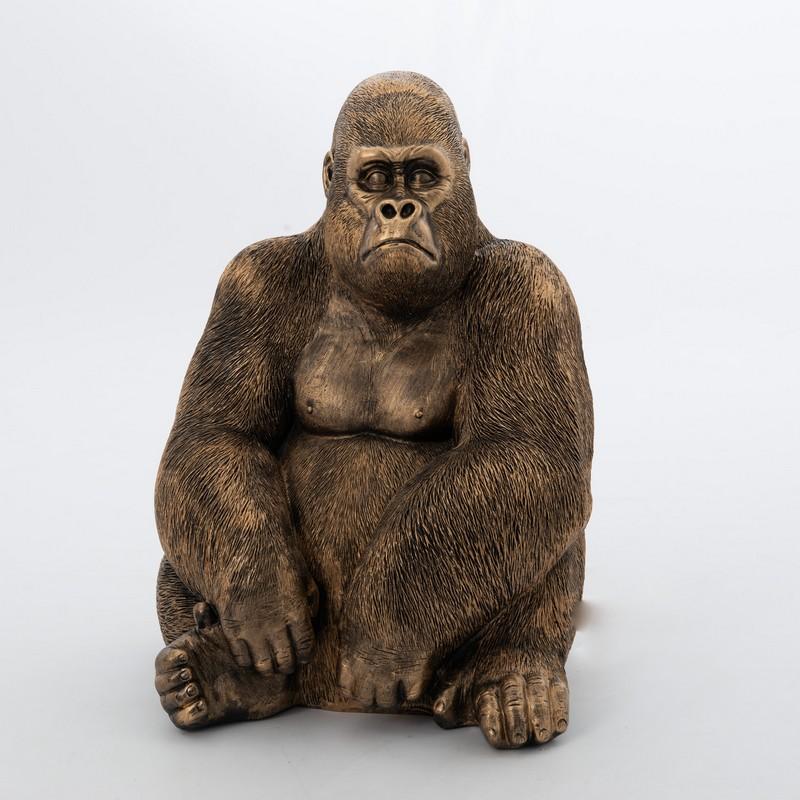 Gorille doré patiné 76 cm