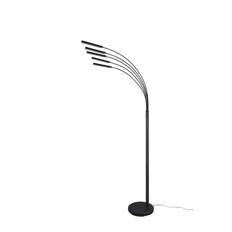 Lampadaire LED noir mat Reed