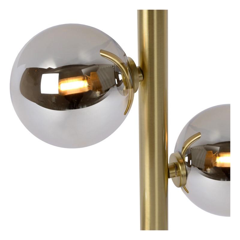 Lampadaire Tycho 4 lumières or mat et laiton