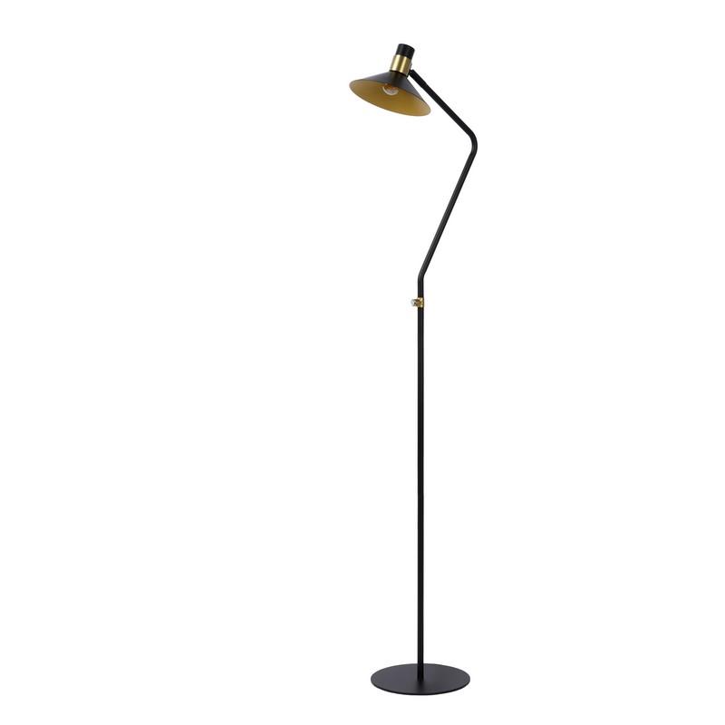 Lampadaire noir 1 lumière Pepijn