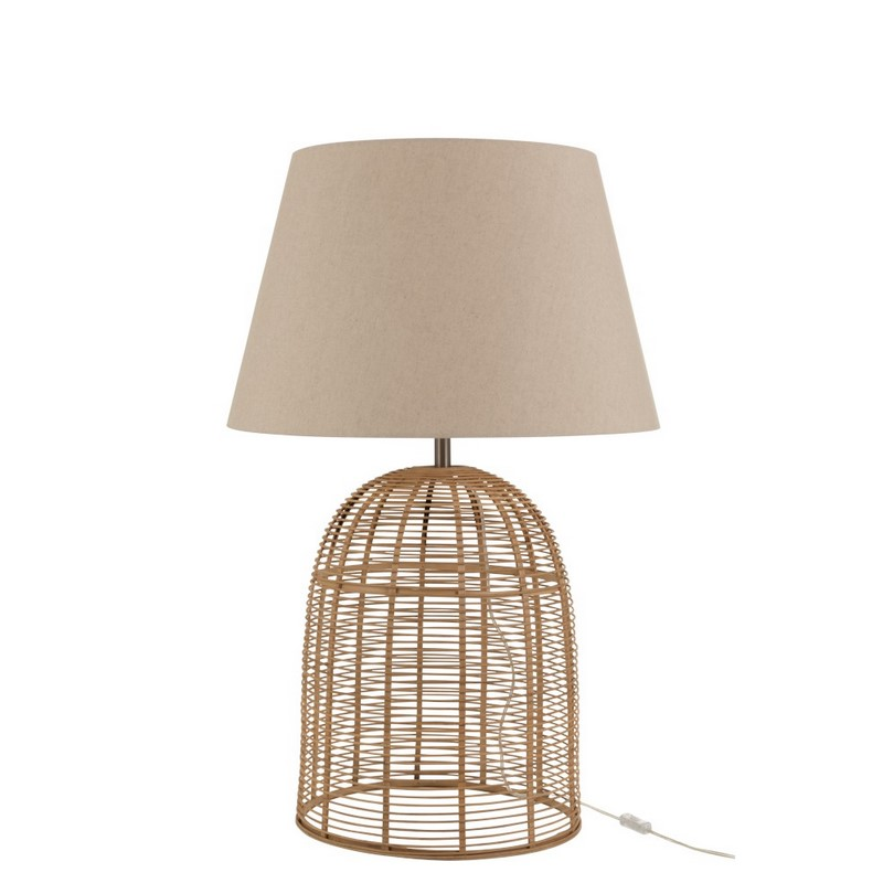 Lampe à poser Barres bambou naturel grand modèle