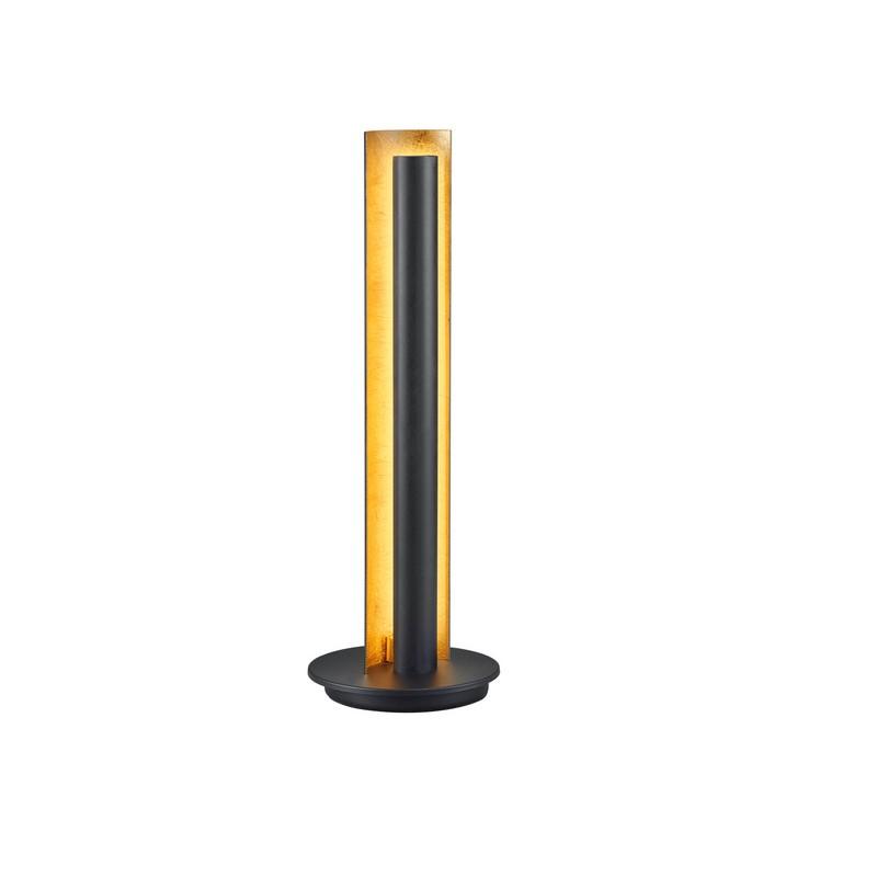 Lampe à poser LED noire et or Texel