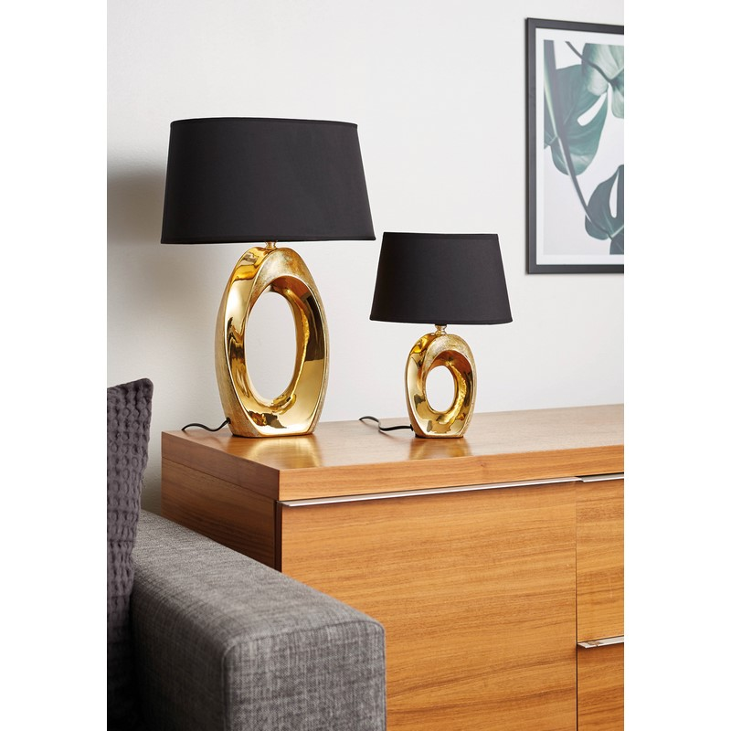 Lampe à poser or et noire Taba grand modèle