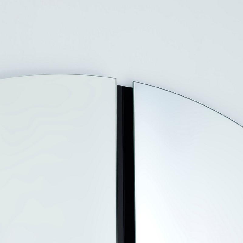 Miroir rond design Luna Black