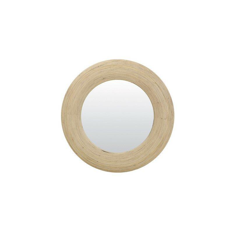 Miroir rond rotin naturel Piedre