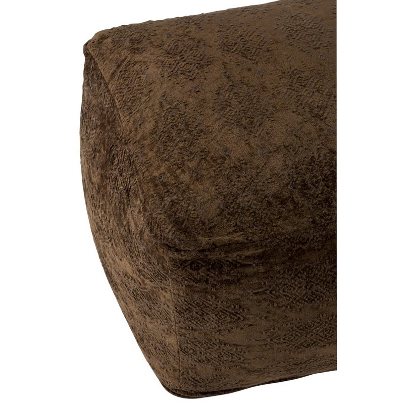 Pouf oriental coton kaki