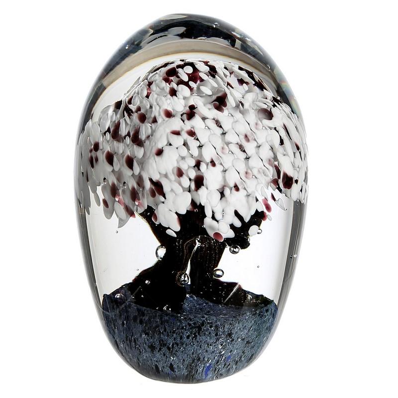 Presse Papier Cherry Tree en verre