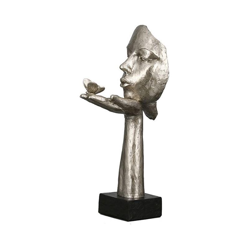 Sculpture Désir femme avec papillon