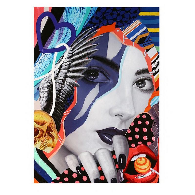 Tableau Pop Art Lady