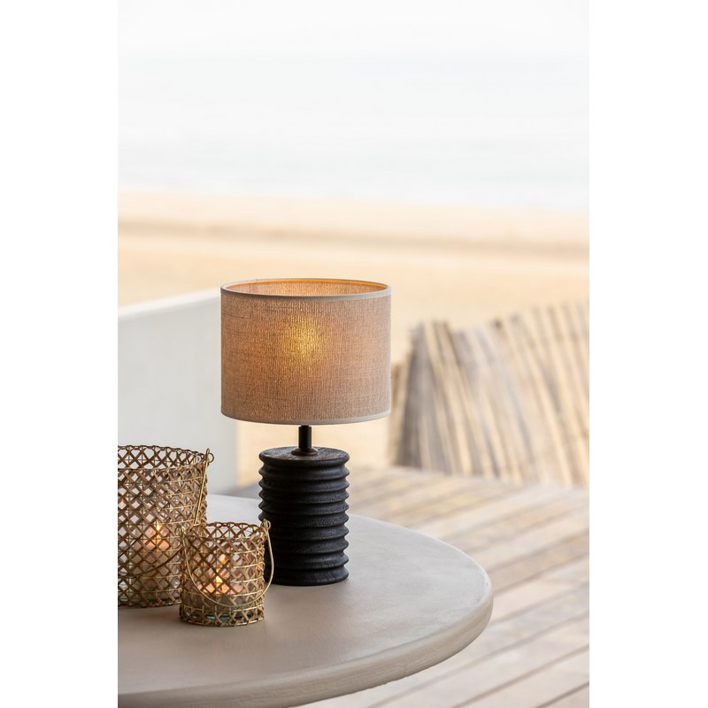 Abat-jour cylindre Breska perle blanc