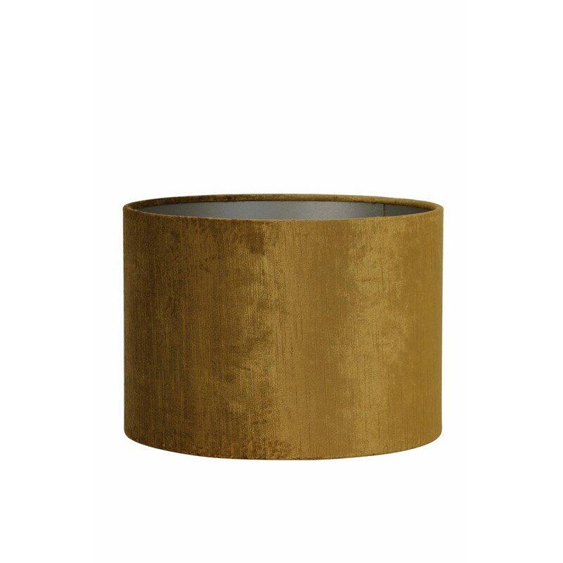 Abat-jour cylindre Gemstone or