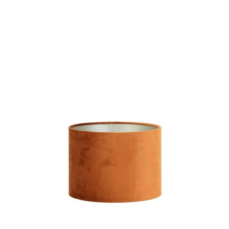 Abat-jour cylindre Velours orange