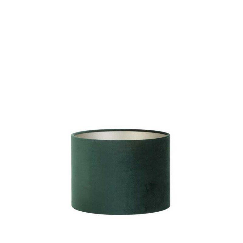 Abat-jour cylindre Velours vert foncé
