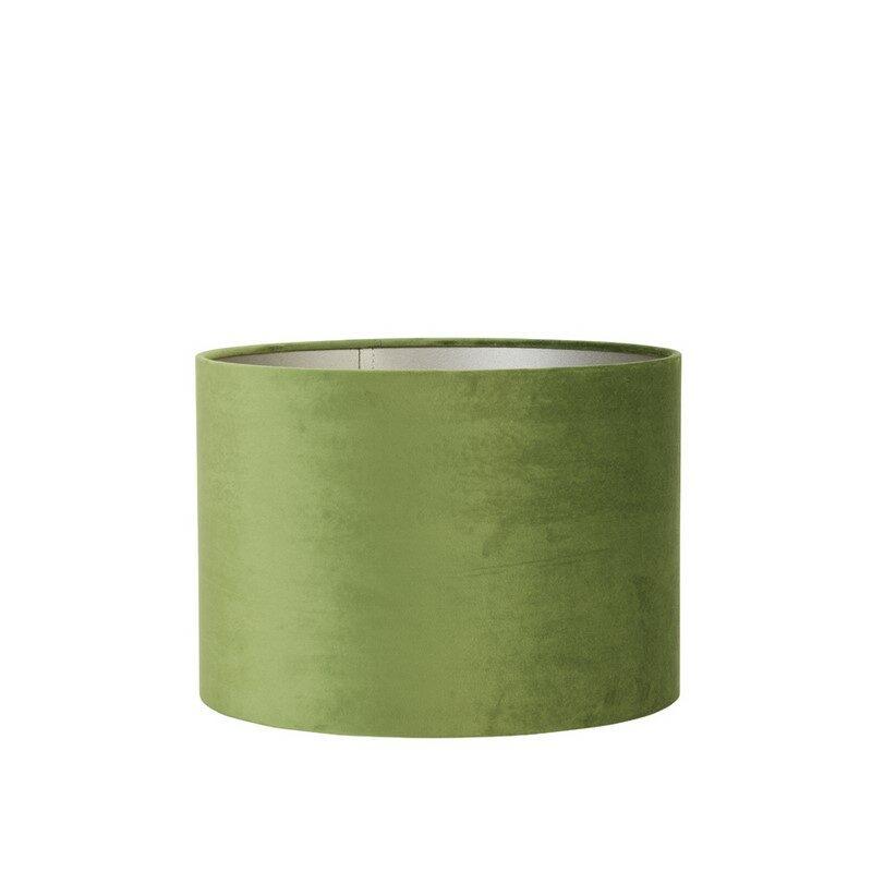 Abat-jour cylindre Velours vert olive