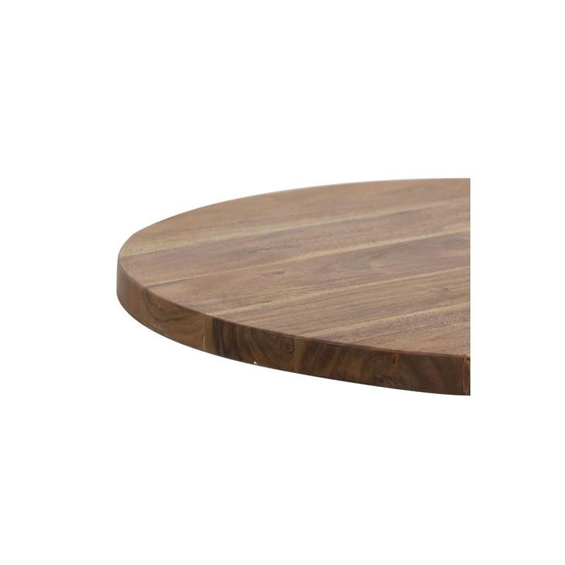 Bout de canapé Biboca bois foncé et noir