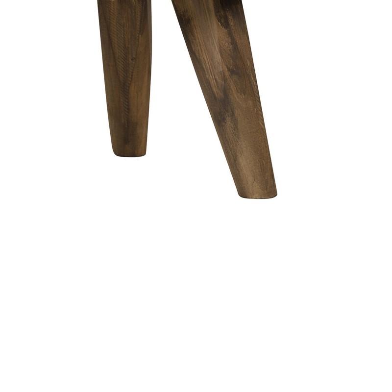 Bout de canapé Canya bois brun foncé