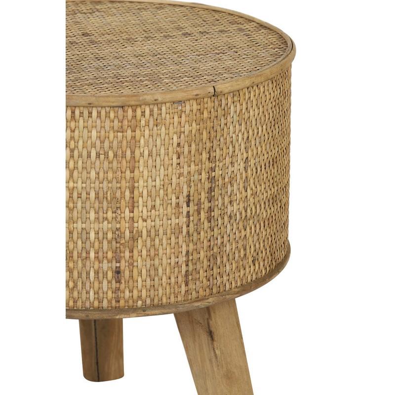 Bout de canapé Canya bois naturel