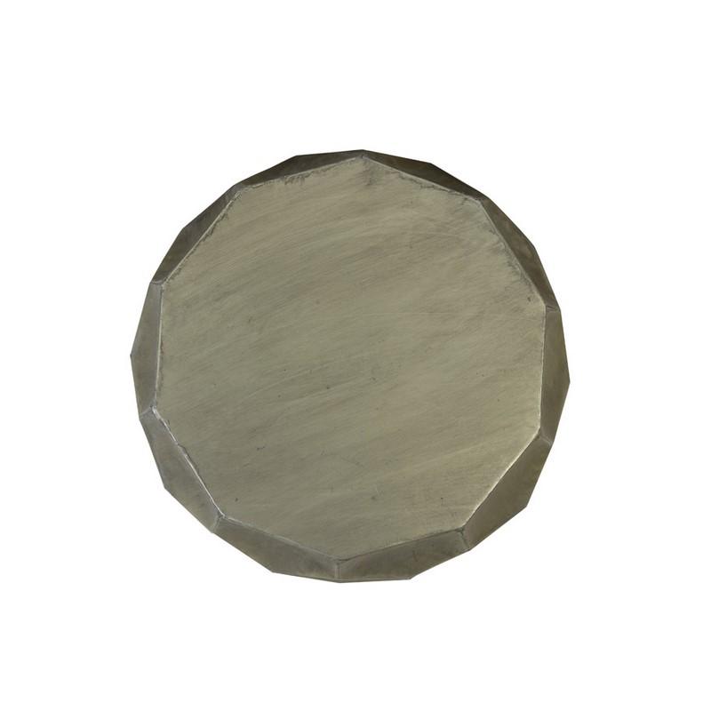Bout de canapé Kalan argent antique