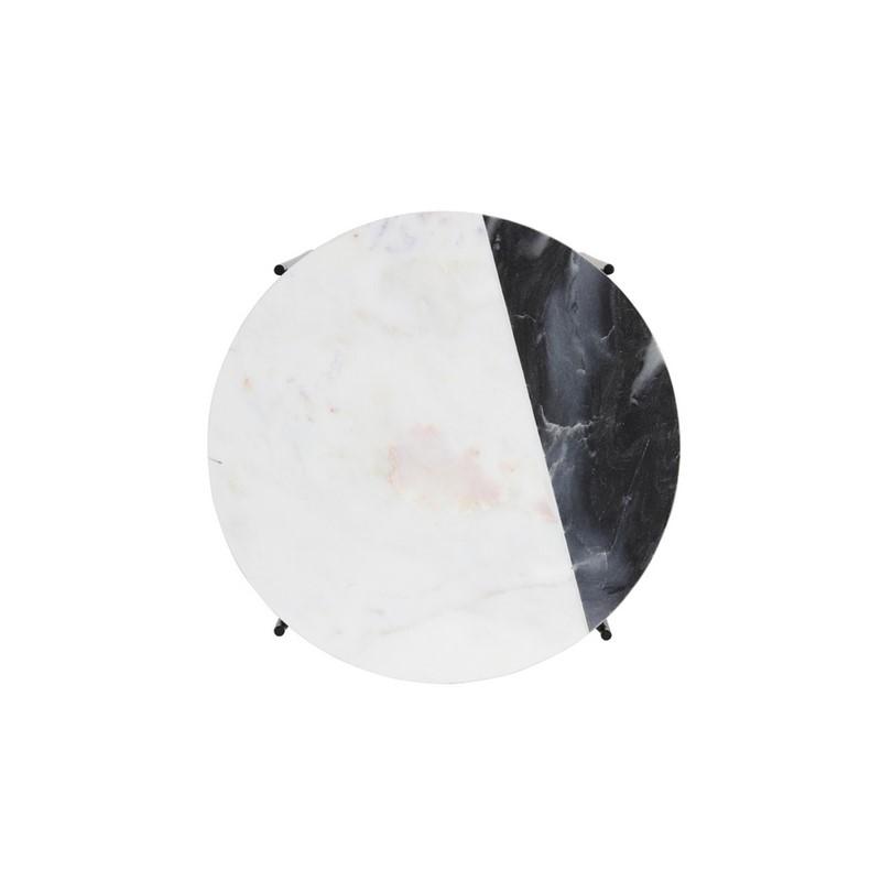 Bout de canapé Quillon noir, blanc et gris