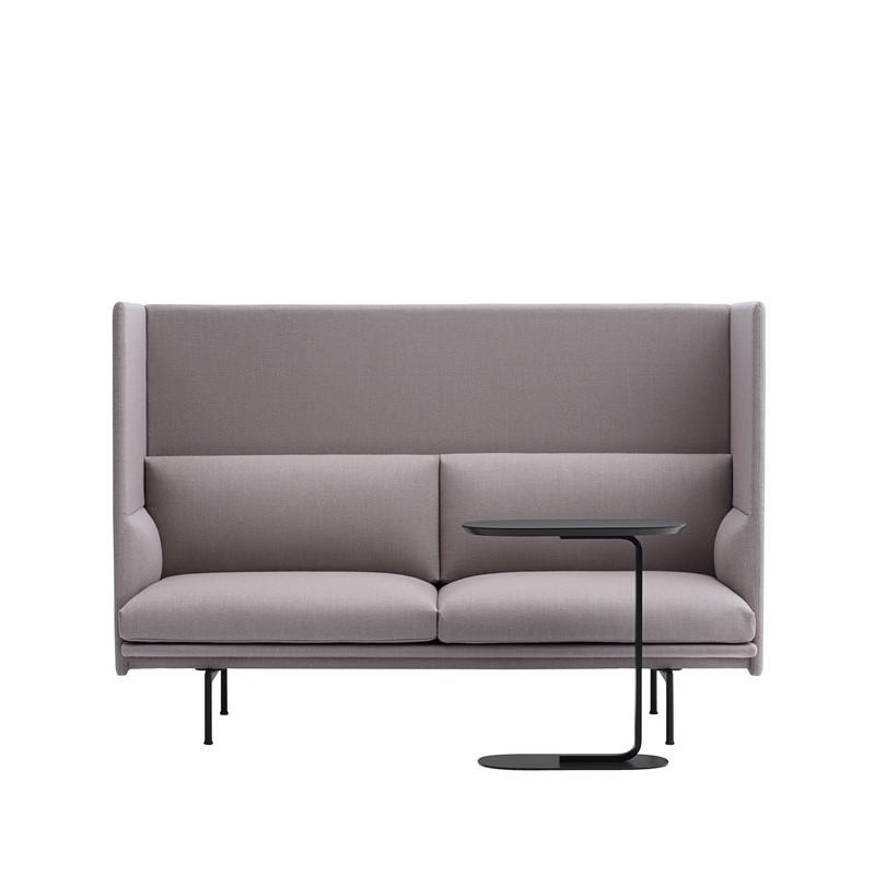 Bout de canapé noir Relate Side