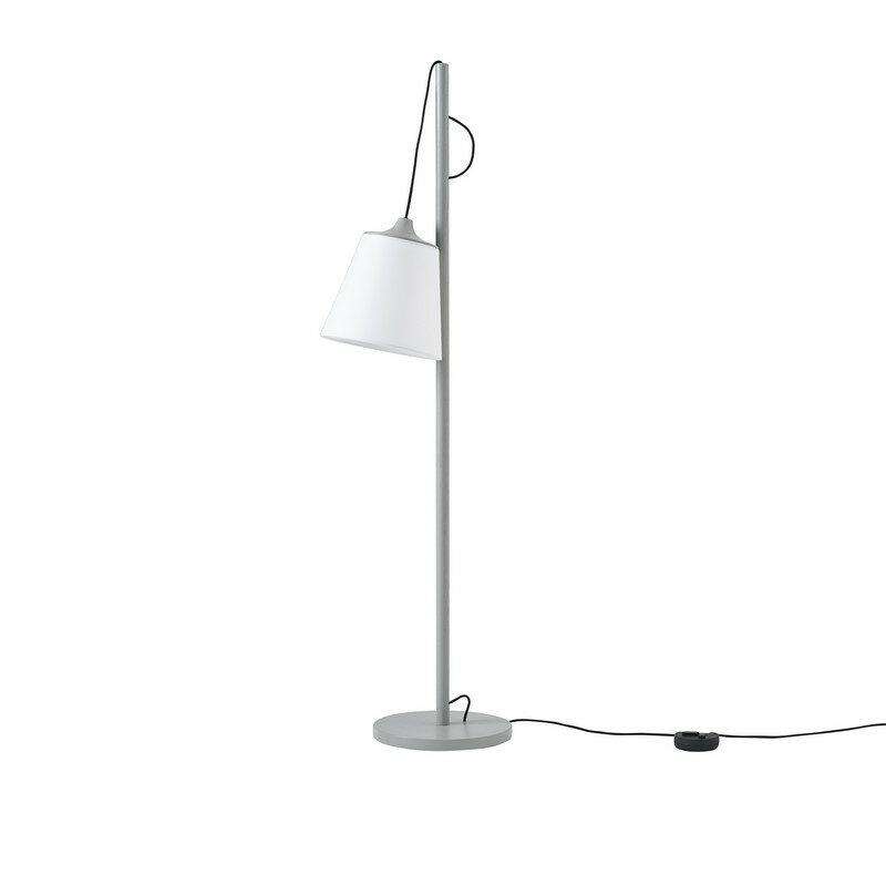 Lampadaire Pull gris blanc
