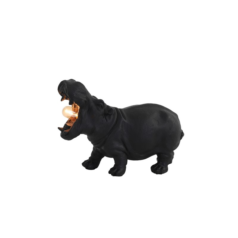 Lampe à poser Hippo noir mat