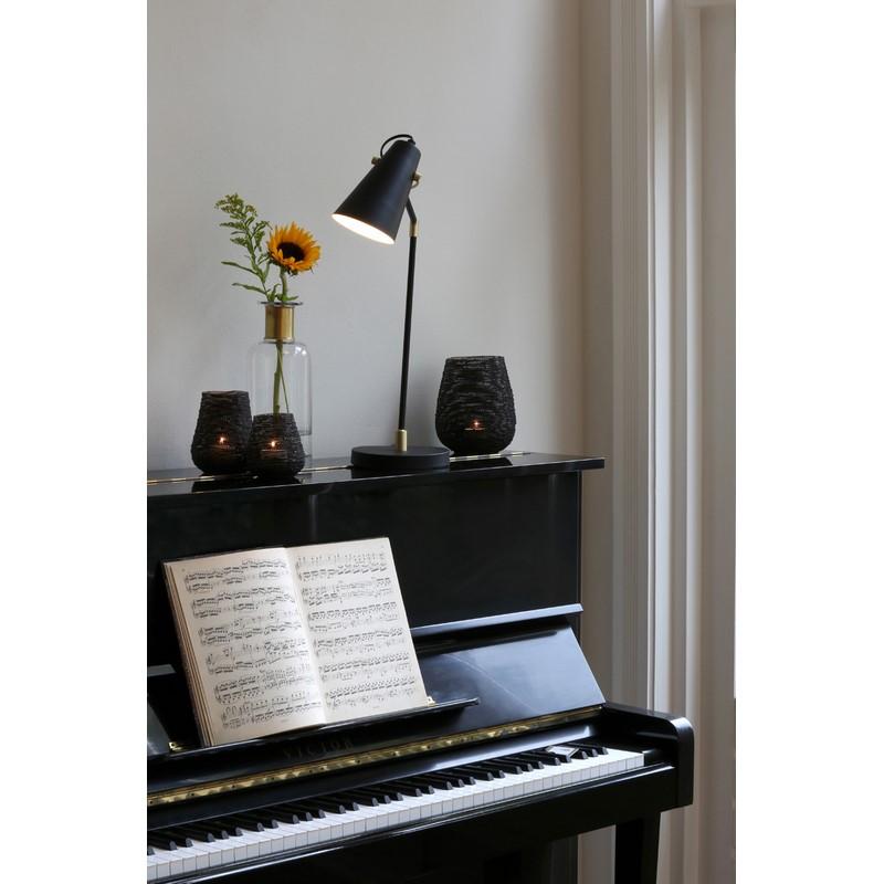 Lampe de bureau Borre noir et or mat