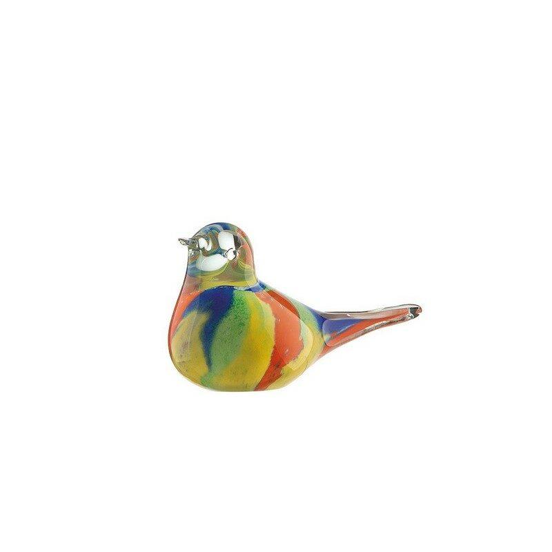 Oiseau en verre Colore