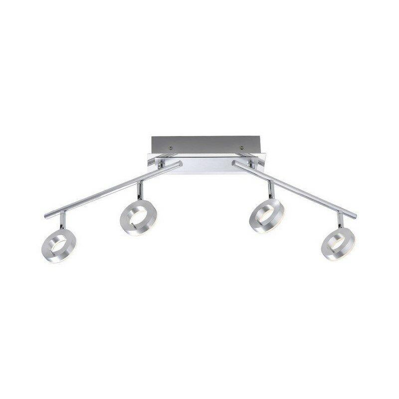 Plafonnier LED IP44 Sileda aluminium