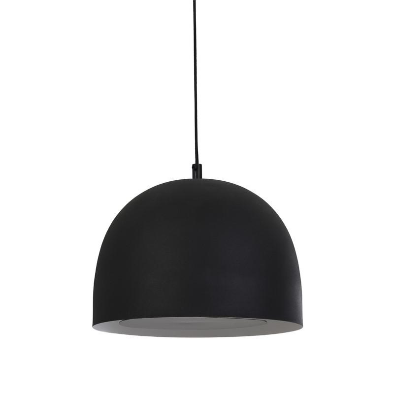 Suspension 3 lumières noire mat Sphere