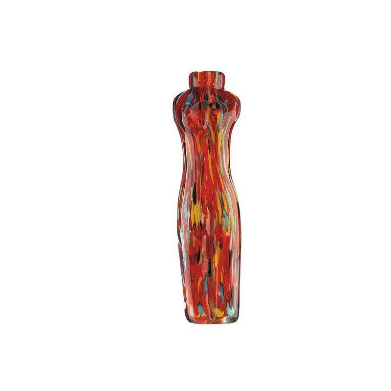 Vase en verre Torso rouge
