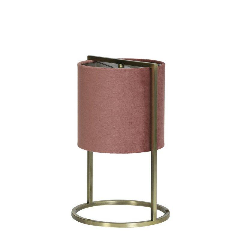 Lampe à poser Santos bronze antique et rose