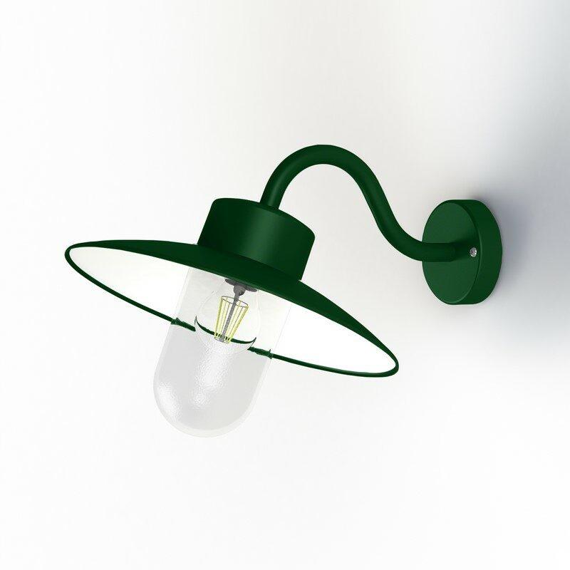 Applique extérieure Belcour 67° vert sapin vert clair