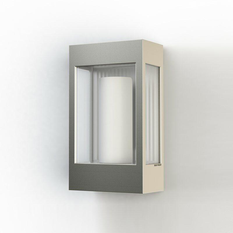 Applique extérieure industrielle Brick² aluminium brut