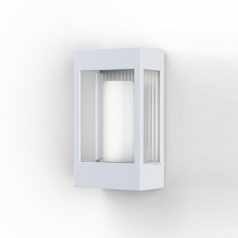 Applique extérieure industrielle Brick² blanche verre clair