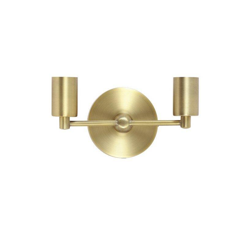 Applique bronze antique 2 lumières Corby