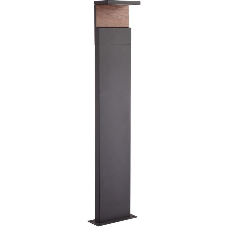 Borne extérieure bois et gris foncé Ruka 100 cm