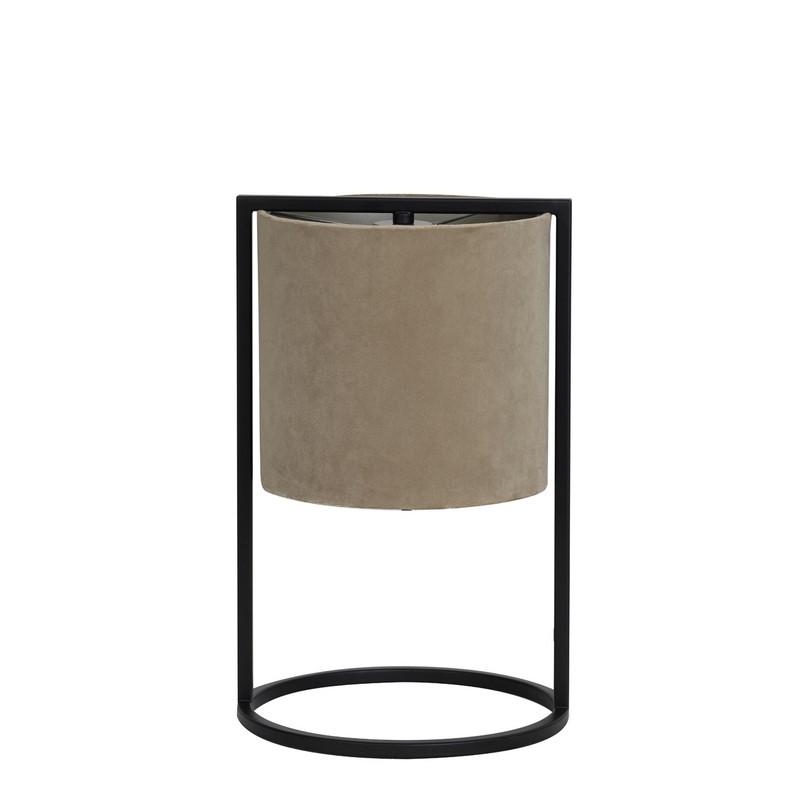 Lampe à poser Santos noir mat et brun clair