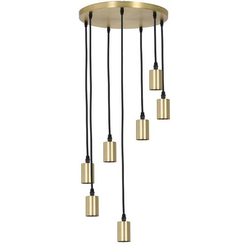 Suspension 7 lumières Brandon bronze antique
