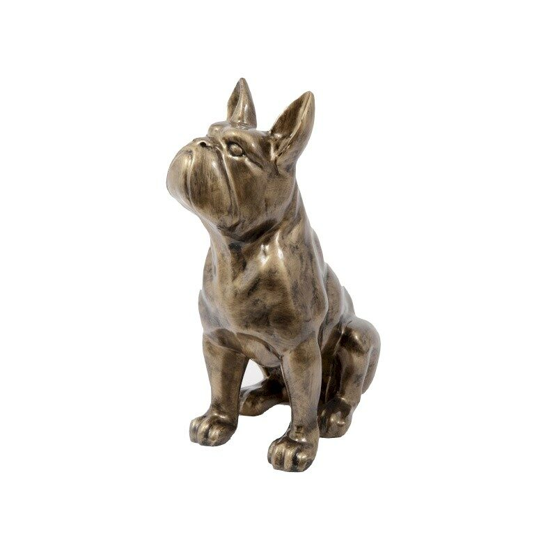 Chien Boston assis or