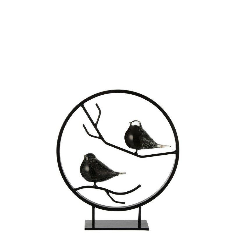 Déco 2 oiseaux dans un cercle