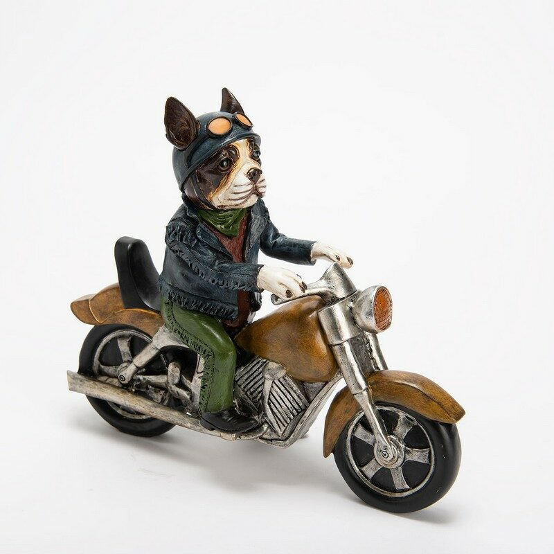 Figurine Bulldog moto vintage