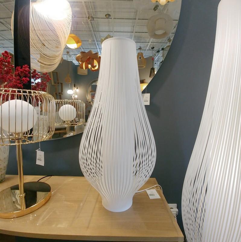 Lampe à poser blanche Mirta 71 cm