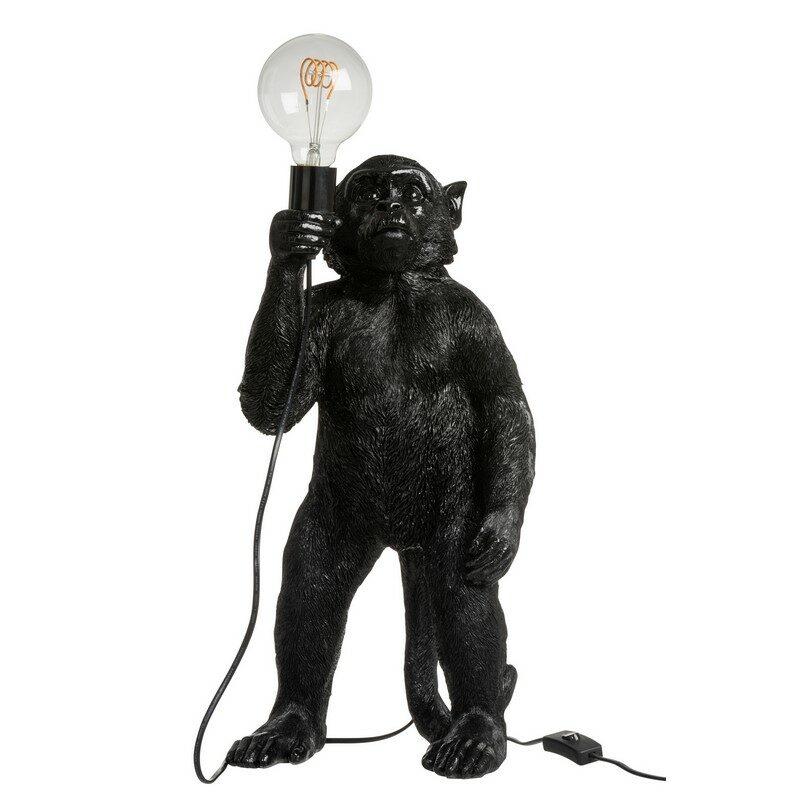 Lampe singe noir debout